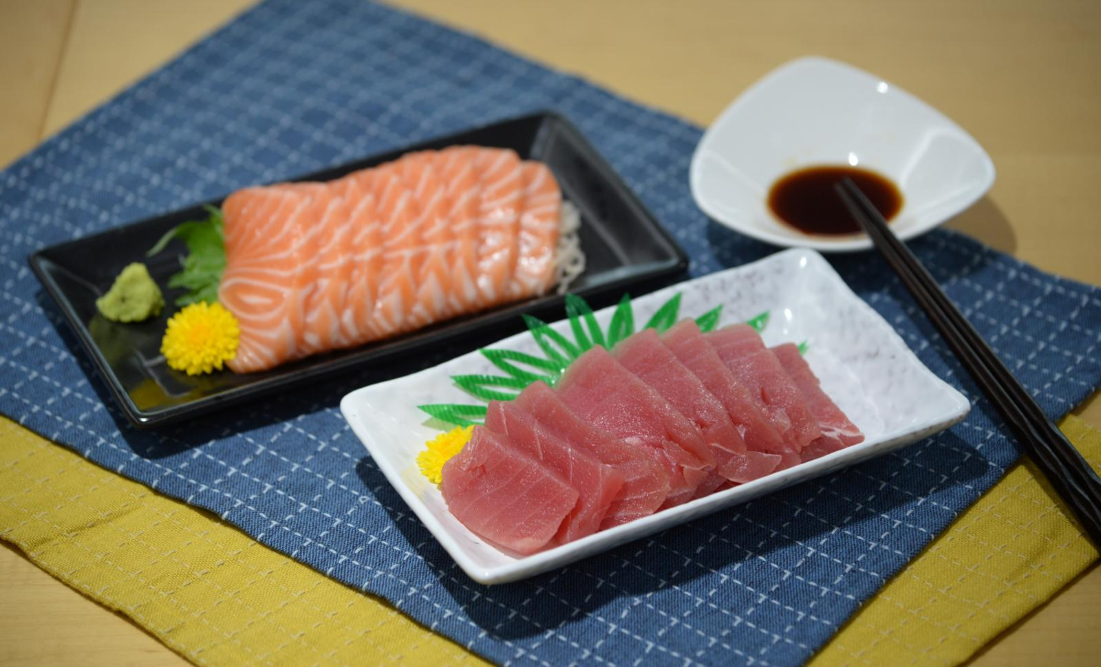 測試包括19款吞拿魚及31款三文魚刺身樣本。