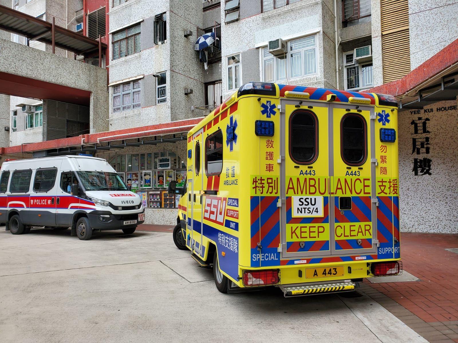 警方及救護員接報到場。