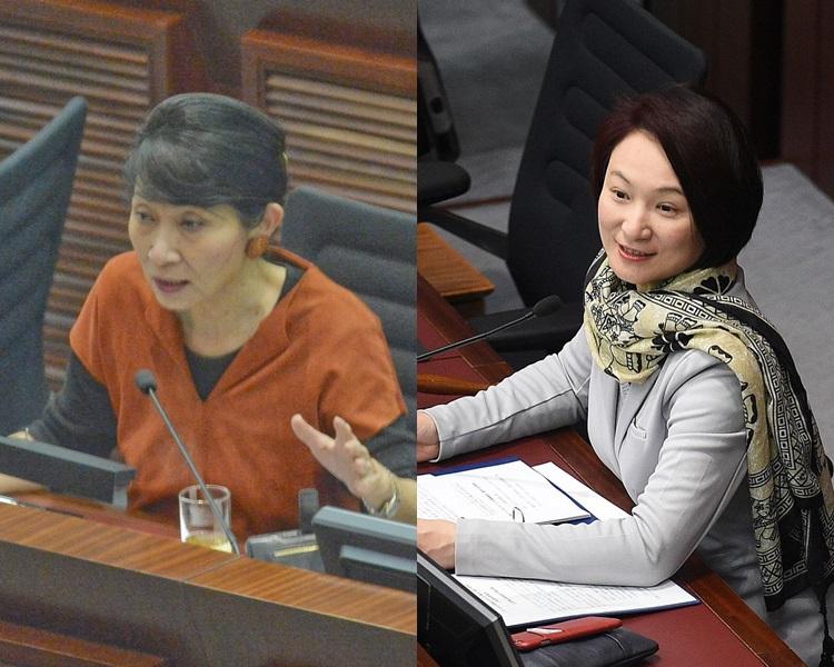 李慧琼(右)指,毛孟靜(左)的投訴並不公道。資料圖片