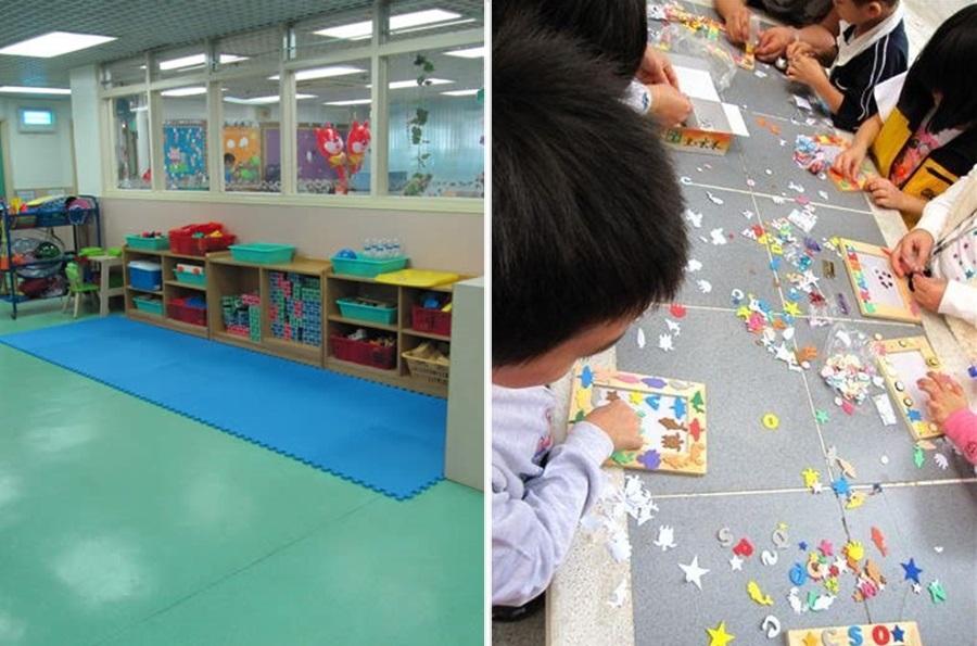 九龍城港青基信幼兒學校(左)及銅鑼灣保良局嬰兒組爆發的上呼吸道感染個案。網上圖片