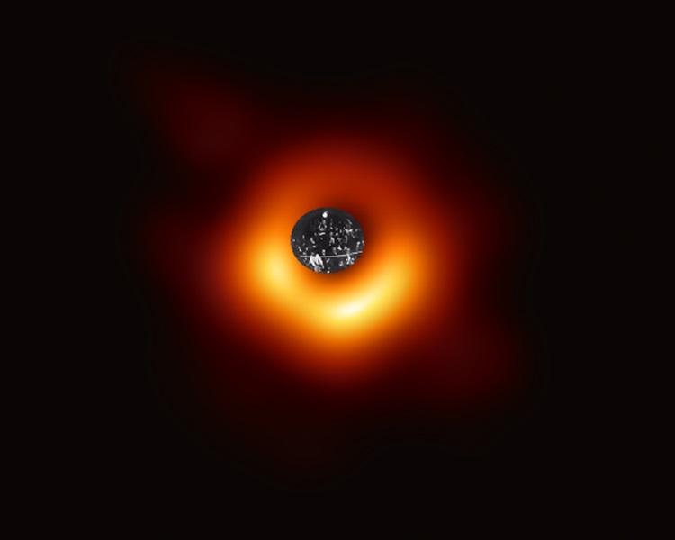 网民创作成「黑洞之眼」。Twitter