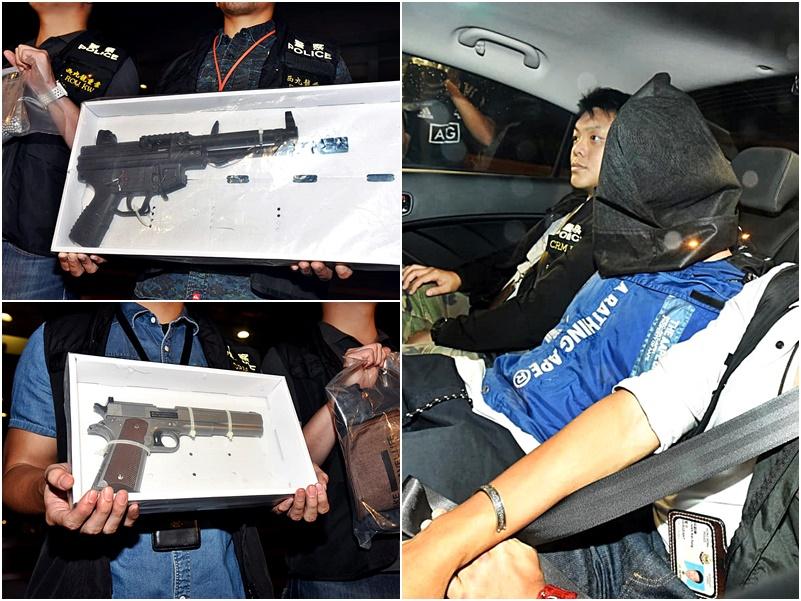 被捕槍手為34歲姓楊男子,他晚上被押回位於旺角大南街74號的住所搜證。
