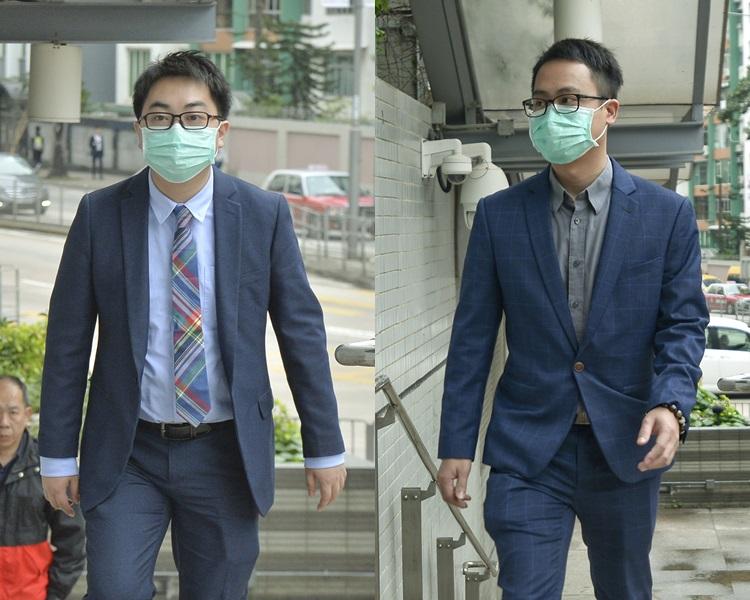 涉案被告陳世傑(左)、陳志才(右)分別被判即時入獄一年和8個月。資料圖片