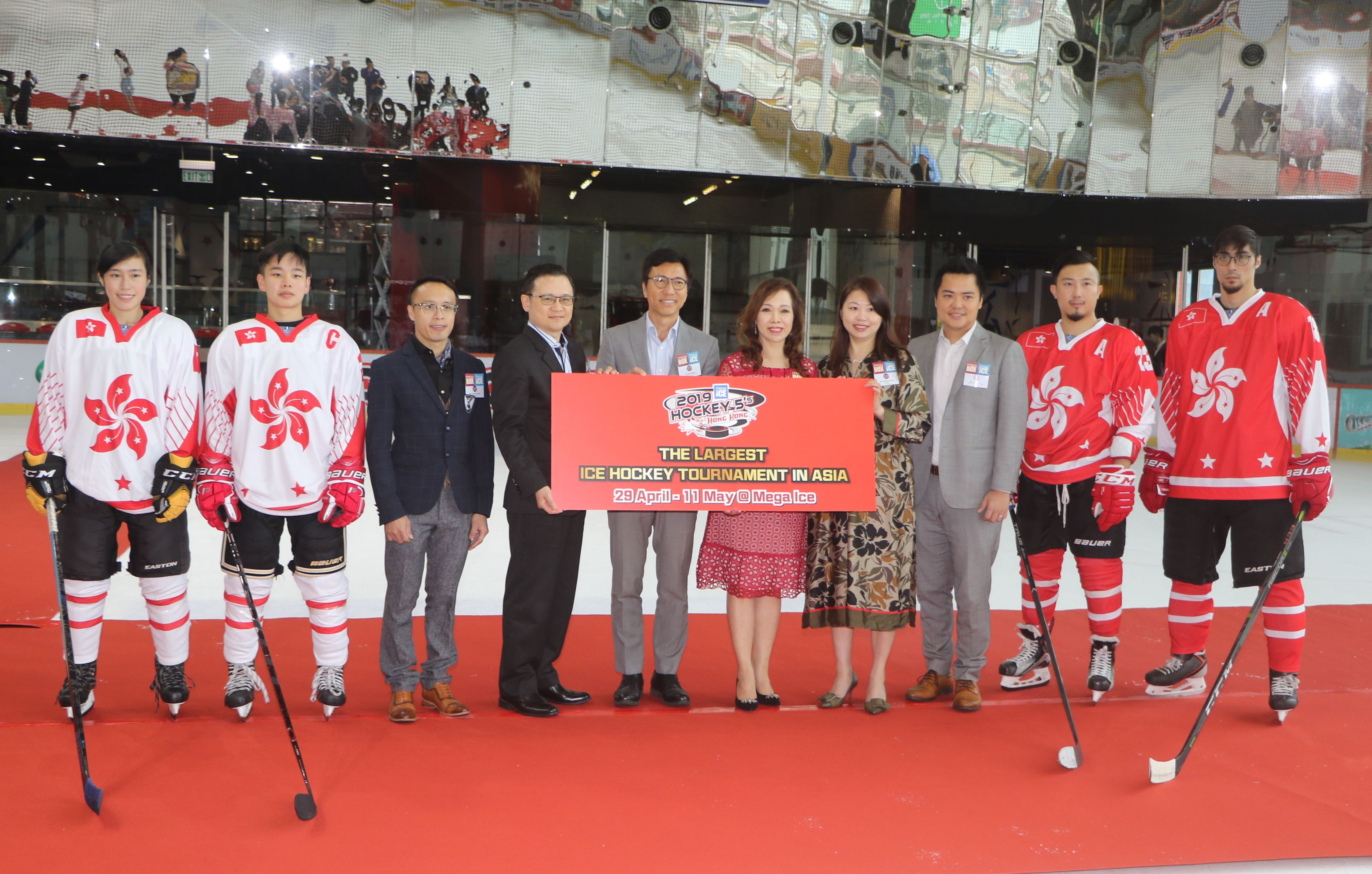 Mega Ice五人冰球賽本月廿九日起在九龍灣Mega Box開戰。王嘉豪攝