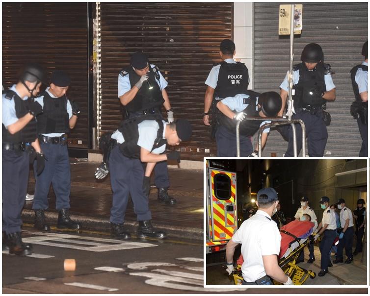 姓羅男子當晚受槍傷轉院時被捕。
