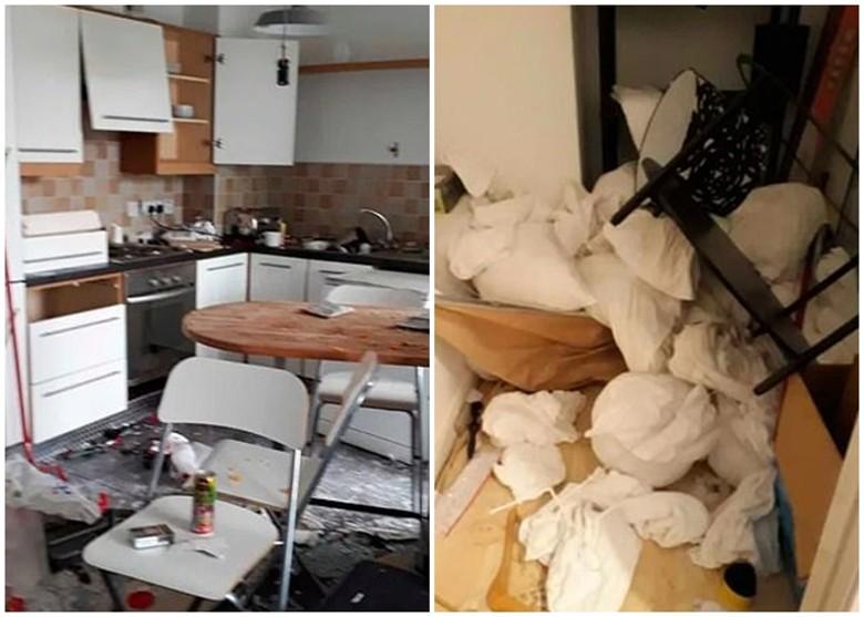 屋主直言:「這樣程度的破壞,完全令人難以置信。」 網圖
