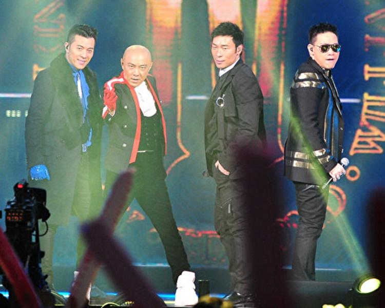 張衛健、許志安、蘇永康和梁漢文組成組合Big Four。網圖