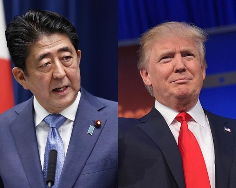 安倍晋三(左);特朗普(右)。 资料图片