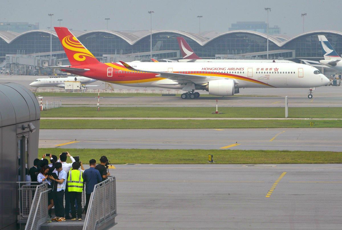 香港航空指幾日涉及公司股東間的紛爭,嚴重擾亂辦公室秩序和正常運作。資料圖片