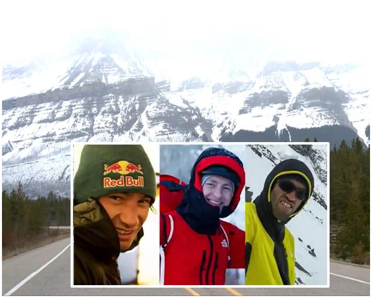 班芙国家公园发生雪崩3名专业攀山者失蹤。网图