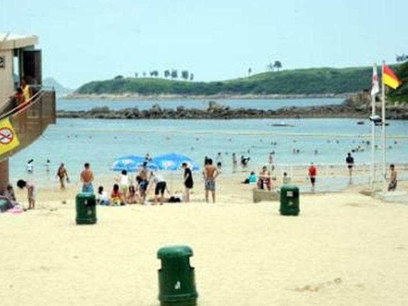 康文署宣佈清水灣第一、二灣泳灘懸掛紅旗。資料圖片