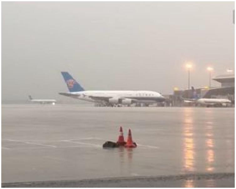 廣州白雲機場今早共有134航班要取消。網圖