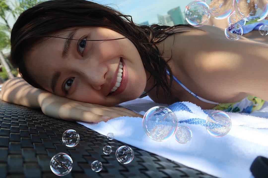 劉溫馨趁着四日復活節假期去旅行遊玩,期間她貼出素顏水着相。 劉溫馨IG圖片