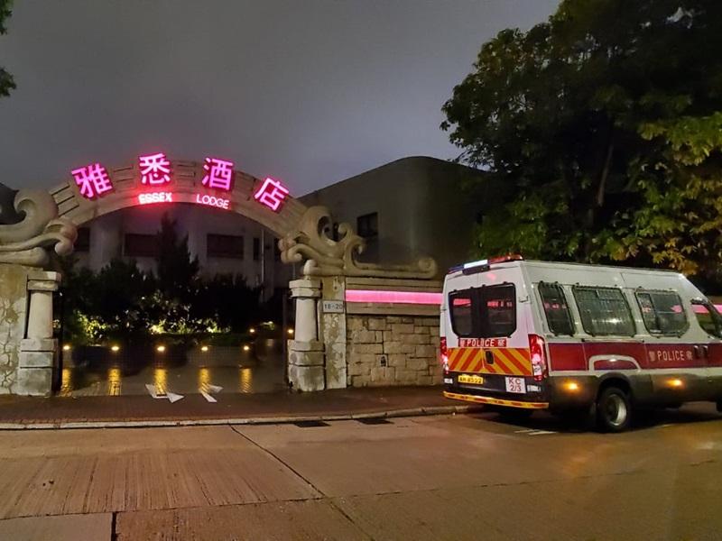 九龍塘一酒店房電視及燈罩懷疑被人儲意破壞。