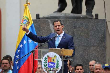 委內瑞拉反對派領袖瓜伊多。