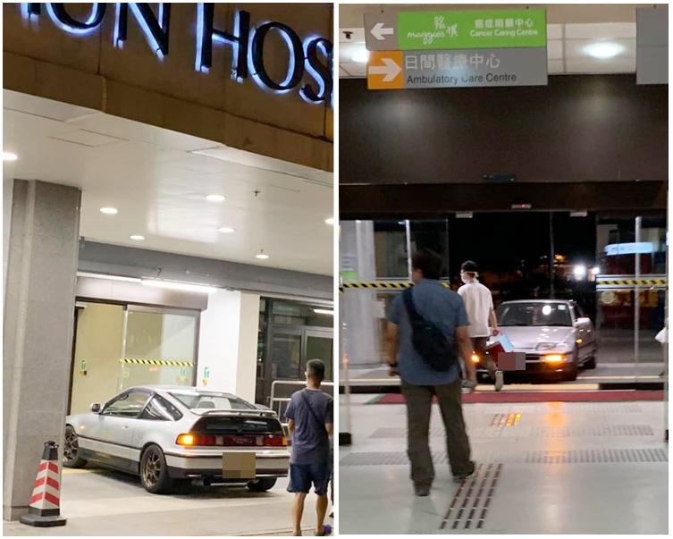 被捕男子日前曾駕駛同一私家車大閙屯門醫院。香港突發事故報料區網民Eric Yeung圖片