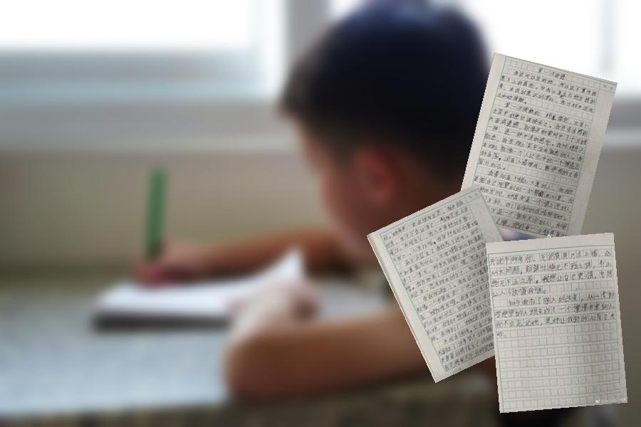 近日一篇由浙江寧波一位小學6年級男同學寫的兩版半暗戀情書在網上爆紅。示意圖/微博圖片