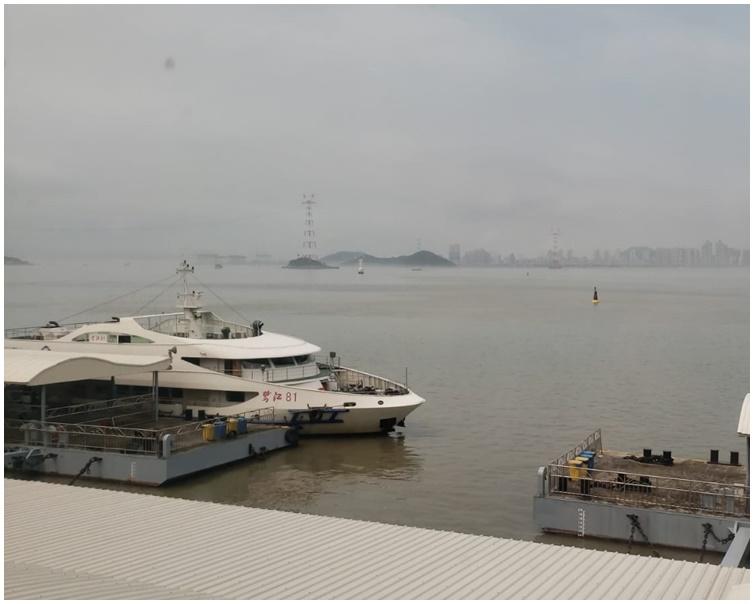 航班一度因大霧停航。市民提供