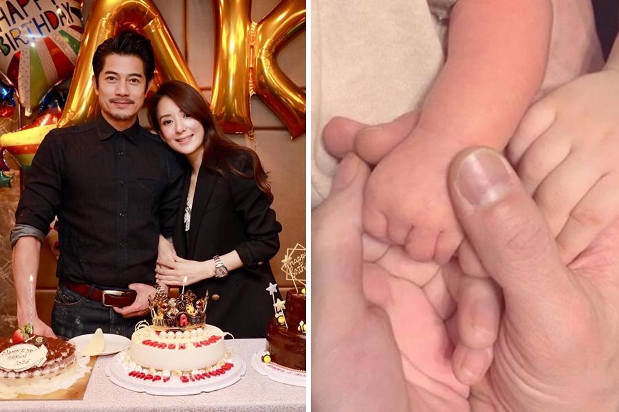 郭富城在結婚周年當日公佈老婆誔下二女兒,晒一家四口牽手照。