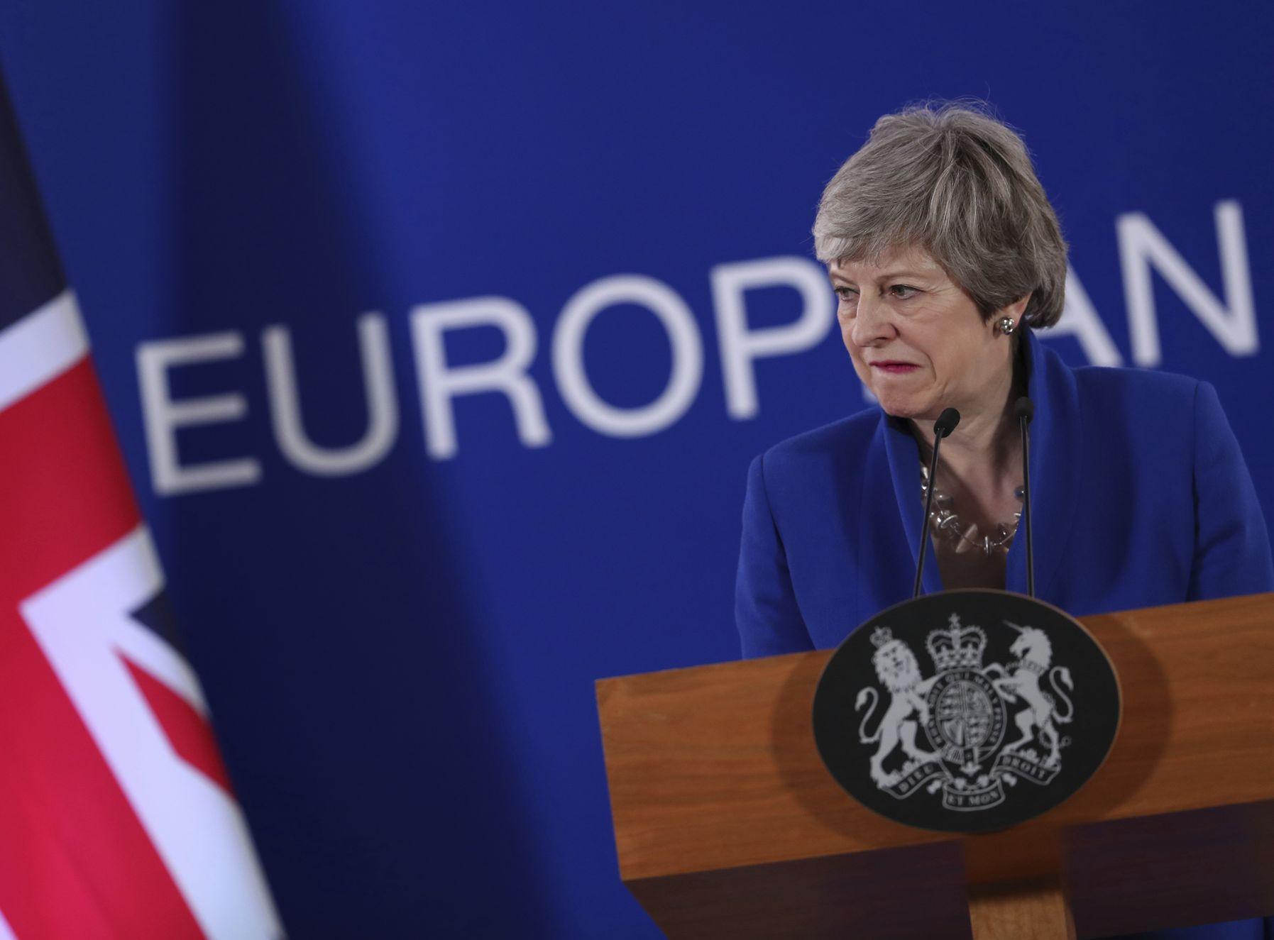 首相文翠珊所屬的執政保守黨內高層,將在本周和她攤牌。AP
