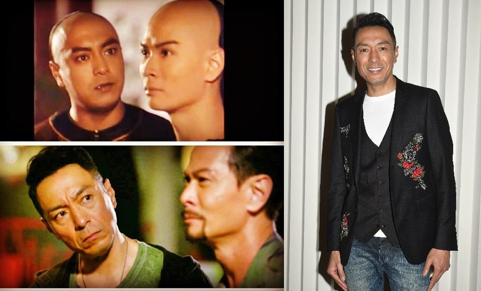 黑仔在社交平台上載他與吳廷燁「時空穿越那些年」的劇照。