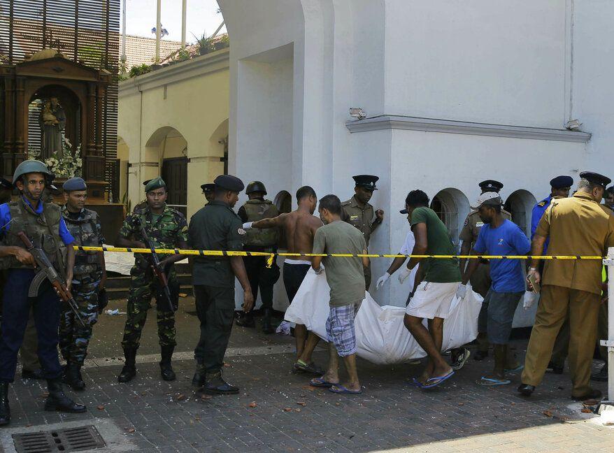 斯里蘭卡發生連環炸彈襲擊。AP