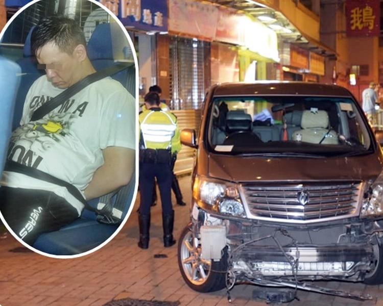 警方憑衣著認出扮路人的司機(小圖)。
