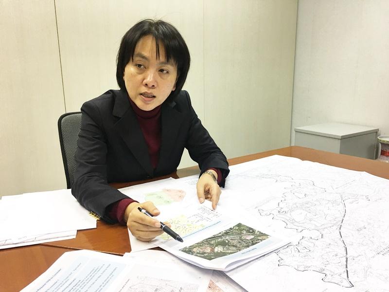劉詩韻正嘗試「撮合」四名不同業主,向城規會申請將位於粉嶺龍躍頭的二十萬呎棕地。