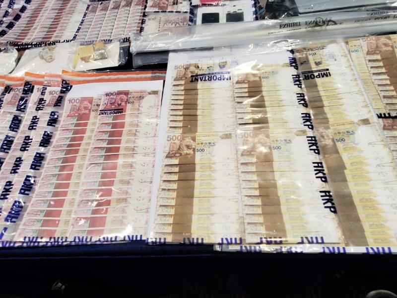 警方检获旳伪钞主要滙丰2010年版钞票。