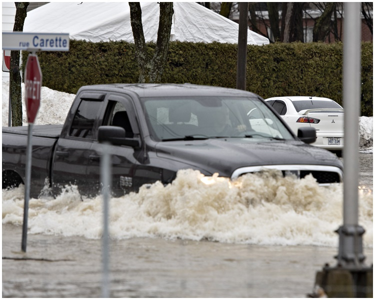加拿大暴雨成災。AP