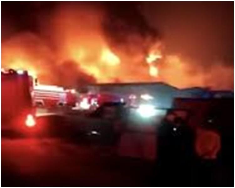 火場實際上是倉庫。網圖