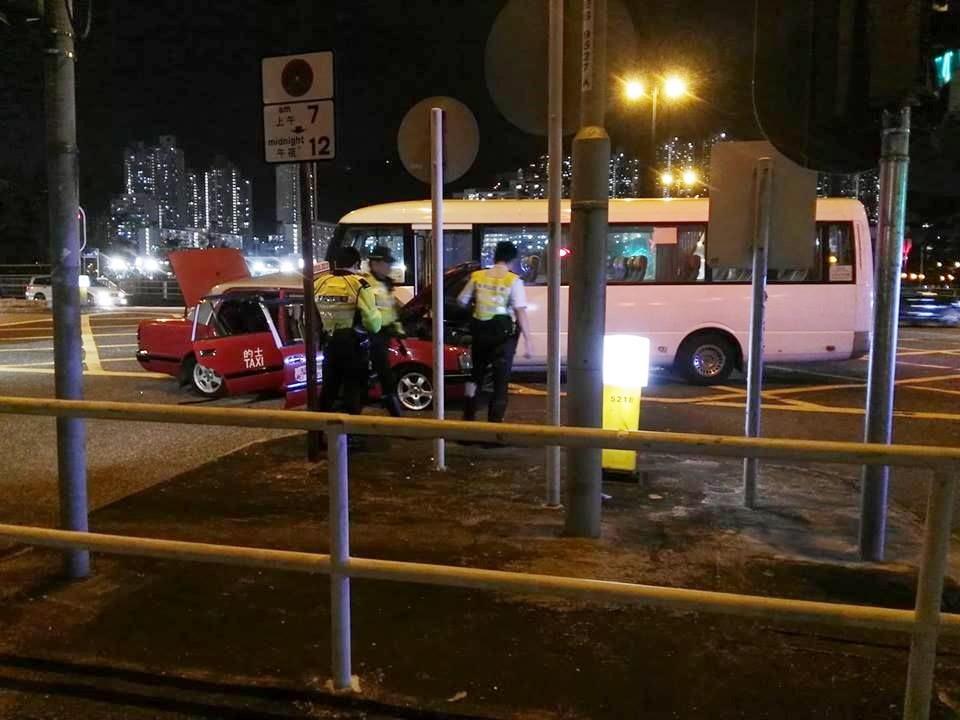 沙田大涌橋路發生奪命車禍。網民Dennis Wan圖片
