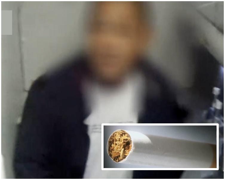 男子匿飞机上吸烟触动警报器。网图