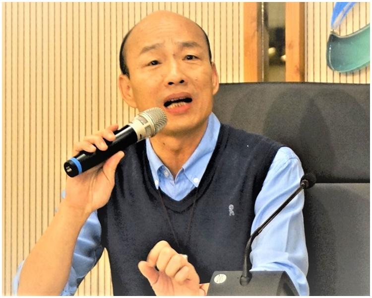 韩国瑜今早发声明称不能参加现行制度的初选。网图