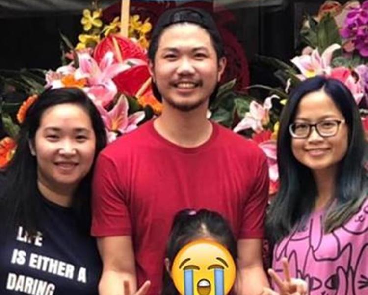 劉姓好爸爸(後排中)現時情況嚴重,急需A或O血型肝臟。網民Yan Yan Lau圖片