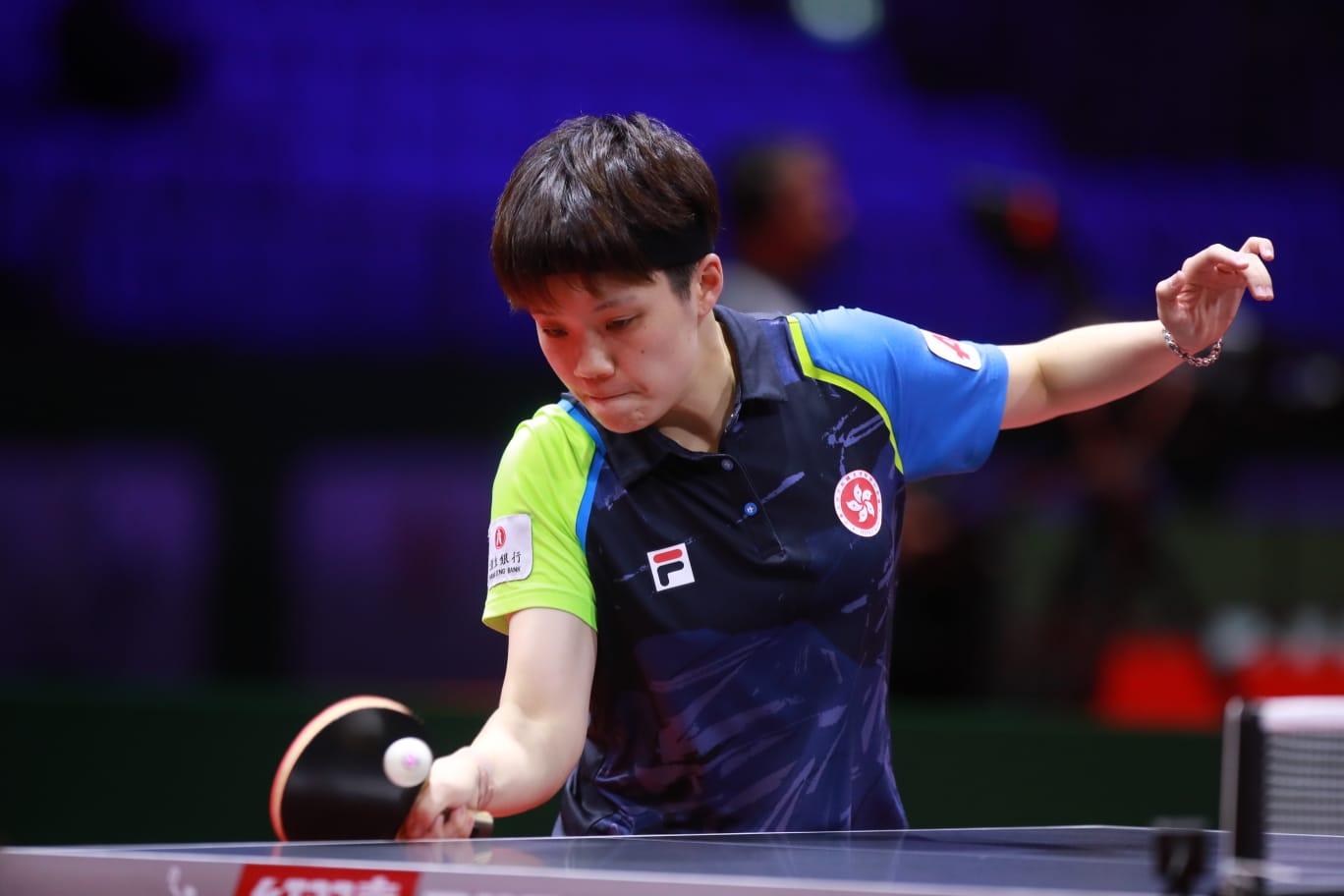 杜凱琹於女單首圈與南韓球手激鬥七盤晉級。國際乒聯官網圖片