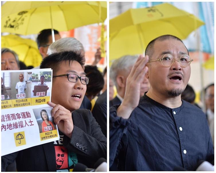 邵家臻及黃浩銘同判囚8個月。