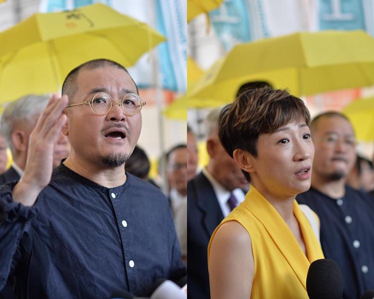 邵家臻(左)被判囚8個月;陳淑莊(右)則押後判刑。