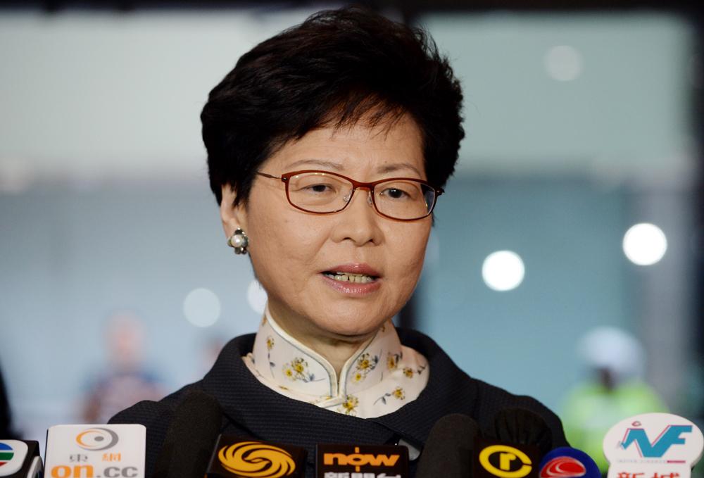 行政長官林鄭月娥今早出發前往北京。 資料圖片