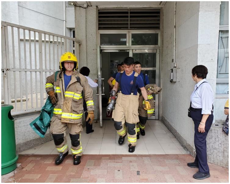 消防初步調查起火原因無可疑。林思明攝
