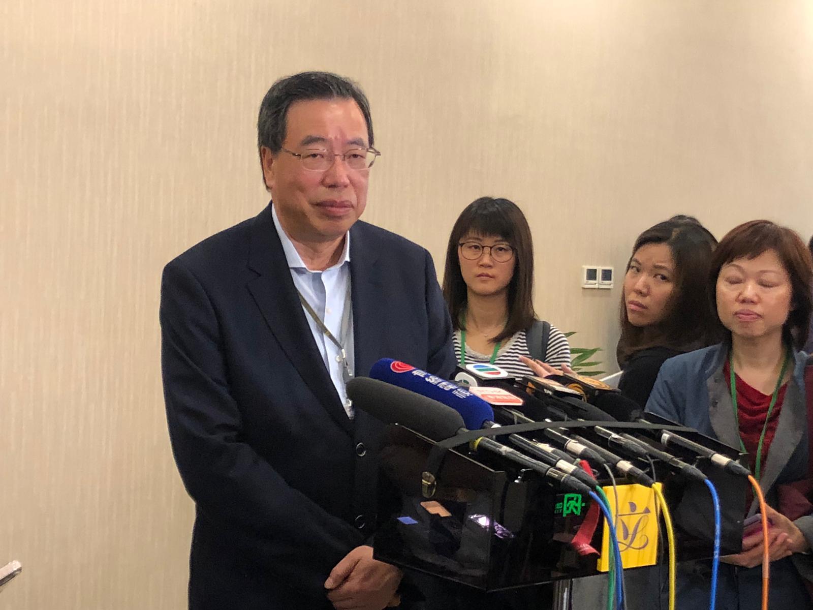 梁君彦表示从未试过主席宣告议员丧失议员资格。