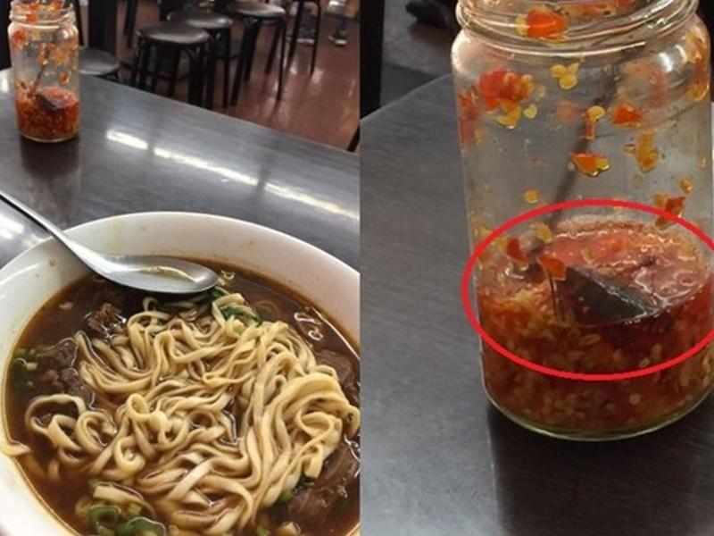 食客發現「小強」後胃口全失。網上圖片