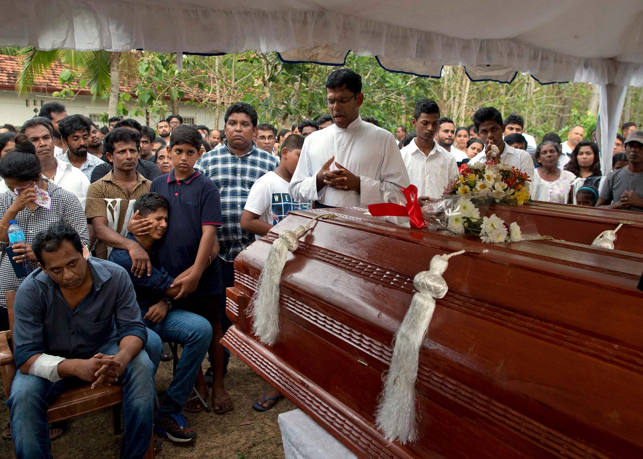 斯里蘭卡連環爆炸造成359人死亡。AP圖片
