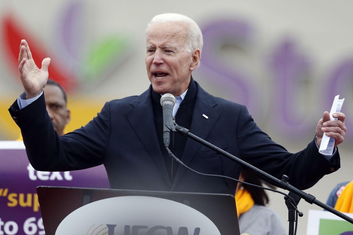 拜登傳周四宣布選總統 。AP圖片