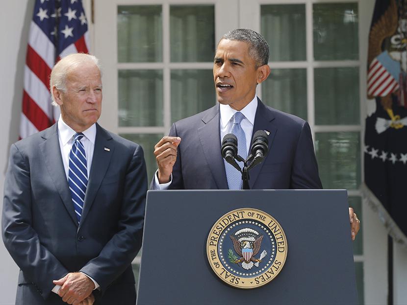 拜登在奧巴馬政府曾任副總統長達8年。AP圖片
