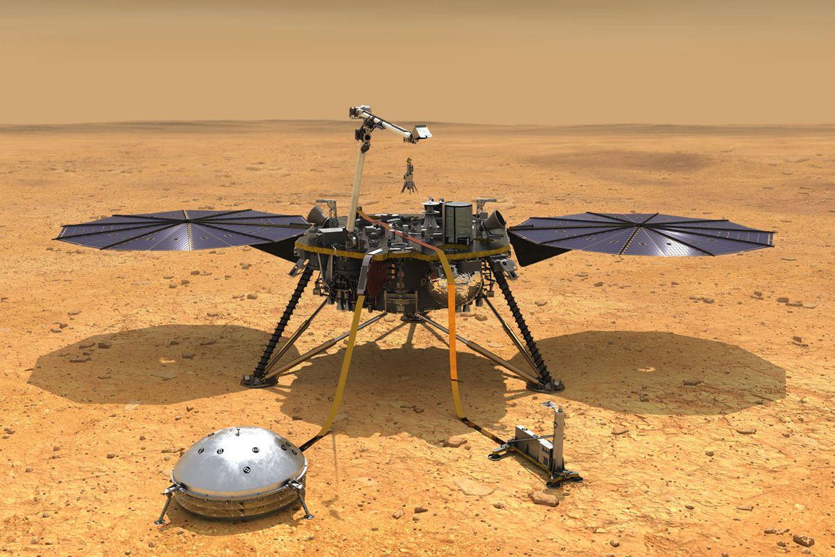 美国「洞察号」探测到首次火星地震。网上图片