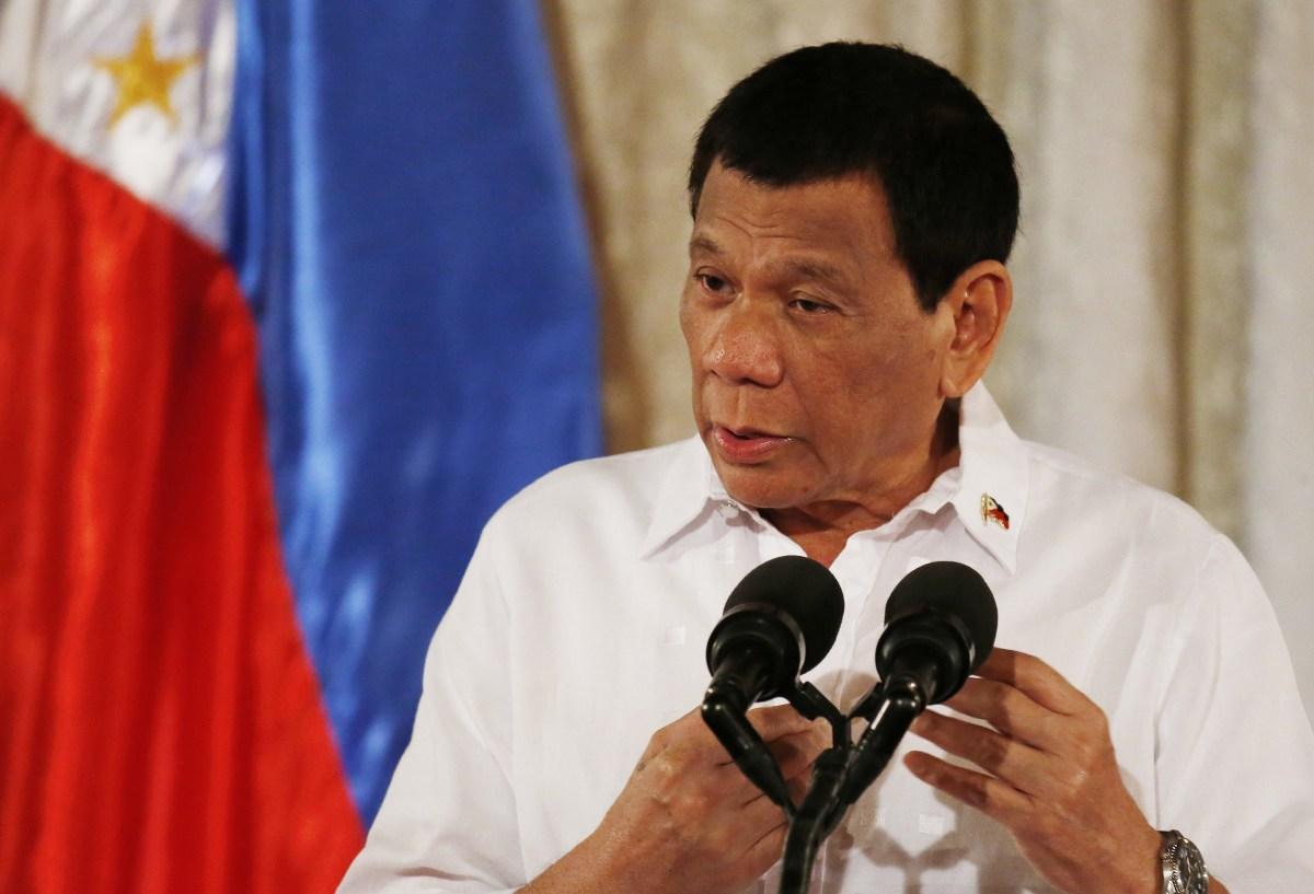 菲律宾总统杜特尔特。图片