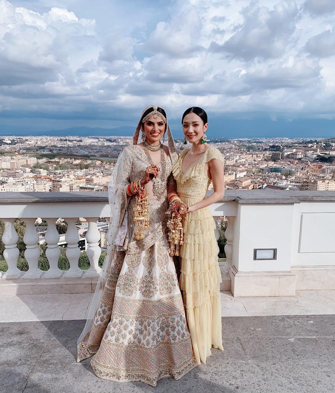 王君馨到意大利參加一位印度籍大學同學的婚禮。 王君馨IG圖片