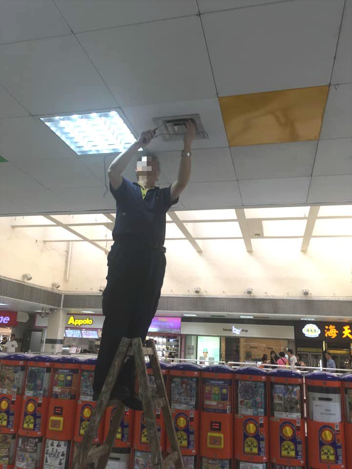 大埔商場有鳥巢遭人粗暴拆毀。網民Suet Wa圖片
