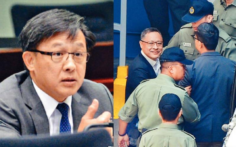 何君堯(左)去信港大校委會主席李國章,要求港大革除戴耀廷(圖右)的教席。
